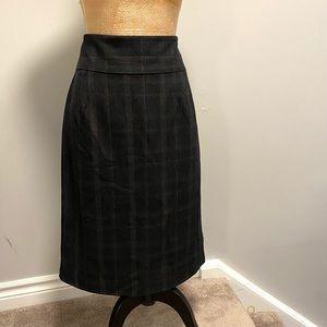 🇨🇦 Cleo Plaid Pencil Skirt, 12,High Waisted
